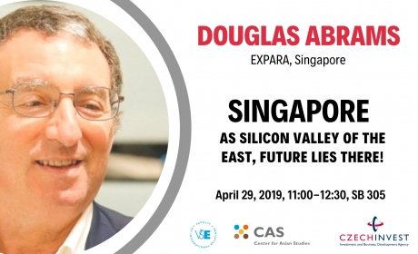 """29. 4. 2019: Lecture """"Singapore as a Silicon Valley of the East"""""""